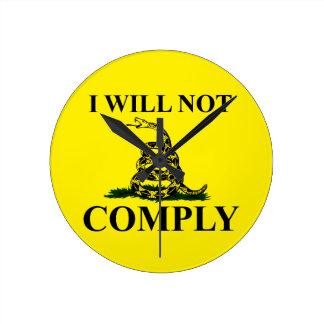Say NO to Communism! Wallclock