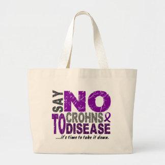 Say NO To Crohns Disease 1 Tote Bags