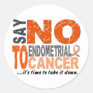 Say NO To Endometrial Cancer 1 Round Sticker