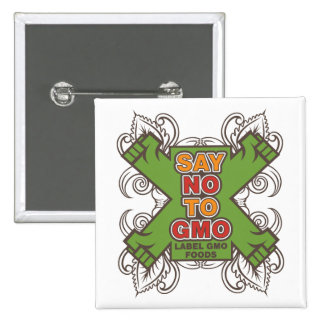 Say No to GMO 15 Cm Square Badge