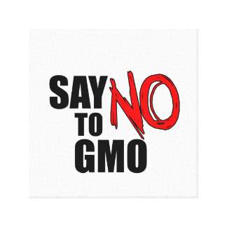 Say NO to GMO Gallery Wrapped Canvas