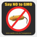 Say NO to GMO Square Sticker