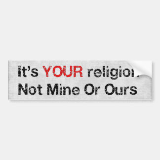 Say No To God Cults Bumper Sticker