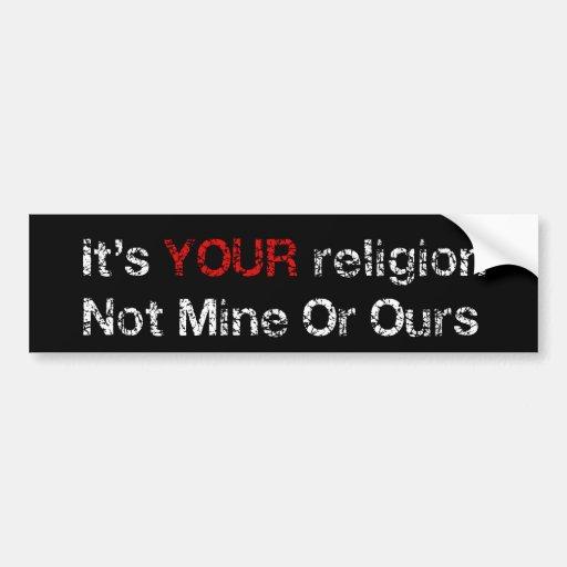 Say No To God Cults Bumper Sticker