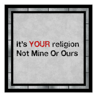 Say No To God Cults Poster