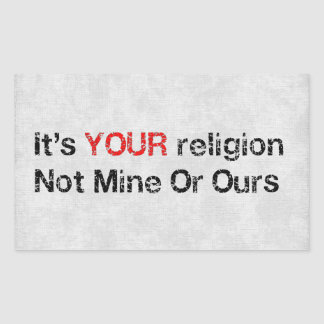 Say No To God Cults Rectangular Sticker