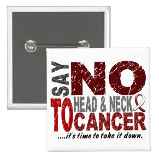 Say NO To Head and Neck Cancer 1 Button