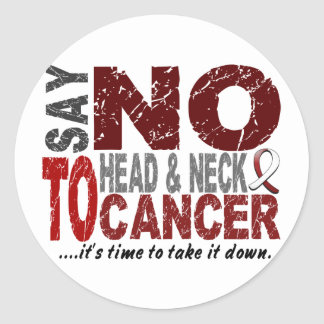 Say NO To Head and Neck Cancer 1 Round Sticker