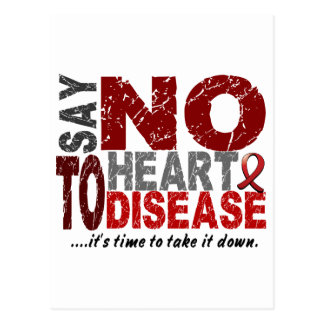 Say NO To Heart Disease 1 Postcards