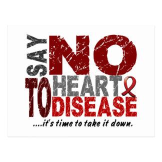 Say NO To Heart Disease 1 Postcard