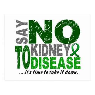 Say NO To Kidney Disease 1 Post Cards