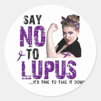 Say NO to LUPUS Sticker