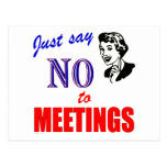 Say No to Meetings Office Humour Lady