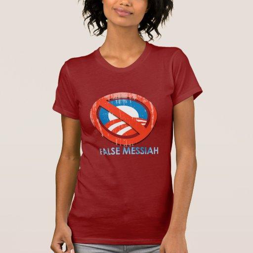 Say No To Obama 3 false messiah Faded.png Tshirts
