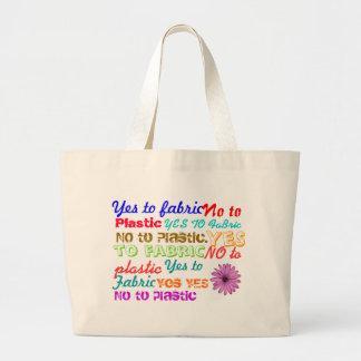Say No to Plastic Jumbo Tote Bag