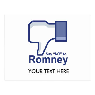 Say No to Romney Postcard