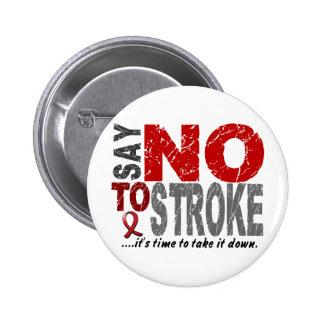 Say NO To Stroke 1 6 Cm Round Badge