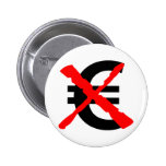 Say No to the Euro! 6 Cm Round Badge