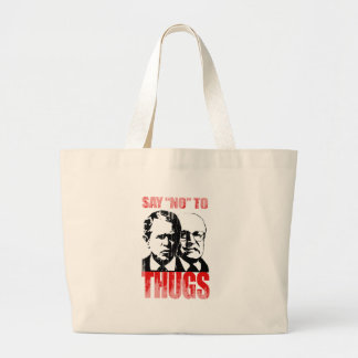 Say No to Thugs 2 Faded png Canvas Bags