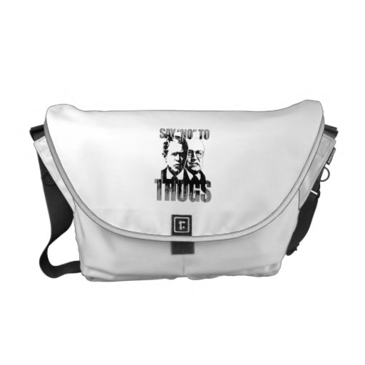 Say No to Thugs Faded.png Commuter Bag