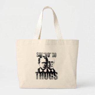 Say No to Thugs Faded.png Jumbo Tote Bag
