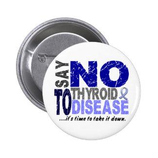 Say NO To Thyroid Disease 1 6 Cm Round Badge