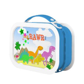 Say Rawr! Cute Cartoon Dinosaurs Lunch Boxes