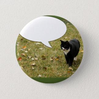 Say Something Kitty 6 Cm Round Badge