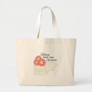 Say Spa Large Tote Bag