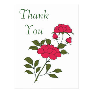 Say Thank You with a Japanese Roses Postcard