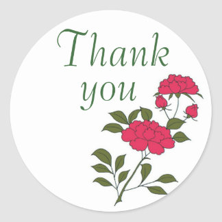 Say 'Thank You' with Japanese Rose Stickers