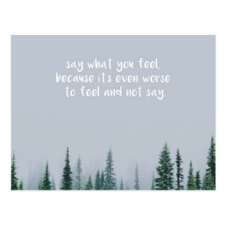Say What You Feel Postcard