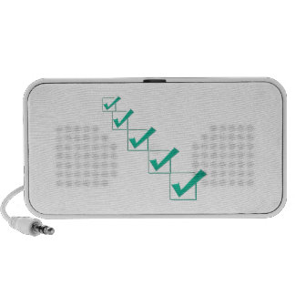 Say YES, be POSITIVE, Inspire for GREEN, DEMOCRACY iPod Speaker