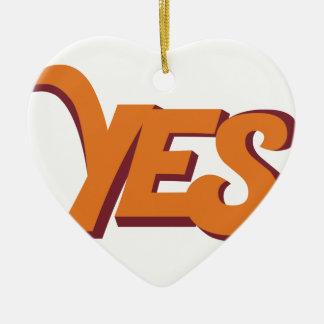 Say yes ceramic heart decoration