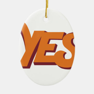 Say yes christmas ornament