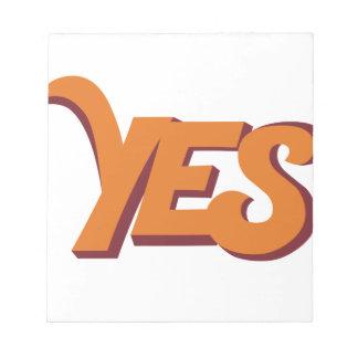 Say yes notepad