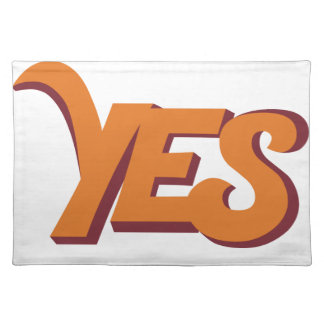 Say yes placemat