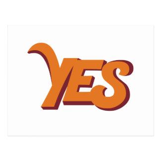 Say yes postcard