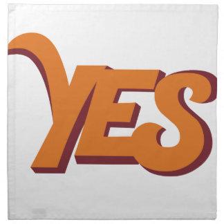Say yes printed napkin