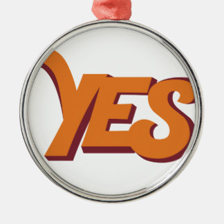 Say yes Silver-Colored round decoration