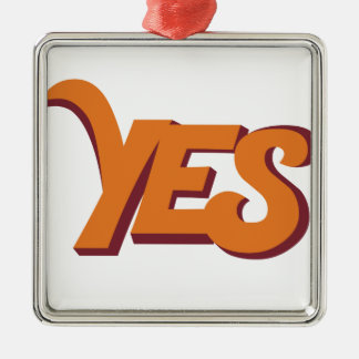 Say yes Silver-Colored square decoration