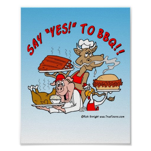 SAY YES TO BBQ! BBQ Poster