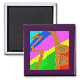 Sayhayki   BOLD Rainbow Square Magnet