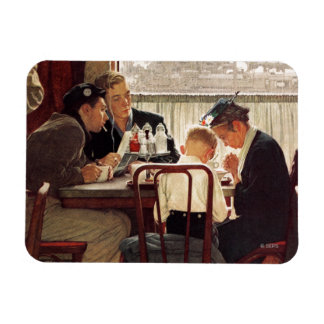 Saying Grace by Norman Rockwell Magnet