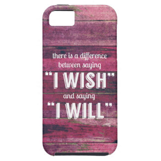 Saying I Will Motivational Inspirational iPhone 5/5S Case