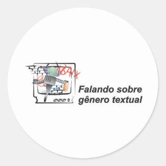 Saying on intelligent literal sort robozinho round sticker