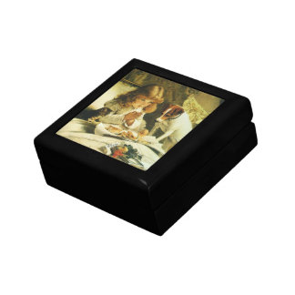 Saying Our Prayers, Suspense Charles Burton Barber Small Square Gift Box