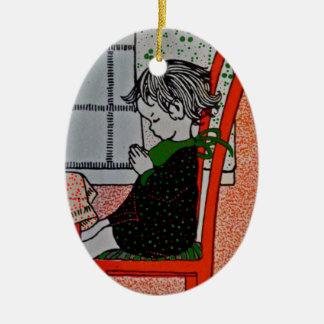 Saying Prayers Christmas Ornament