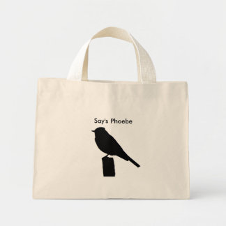 Say's Phoebe silhouette Bag