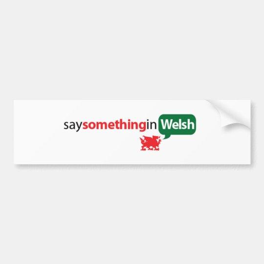SaySomethinginWelsh Bumper Sticker